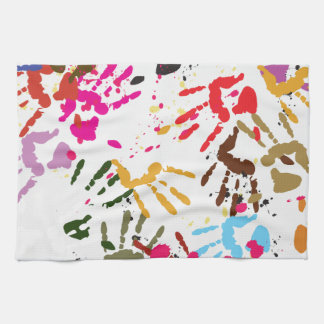 Colorful Hands Hand Towel