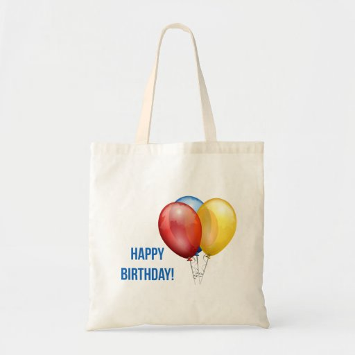Colorful Happy Birthday Balloons Bag