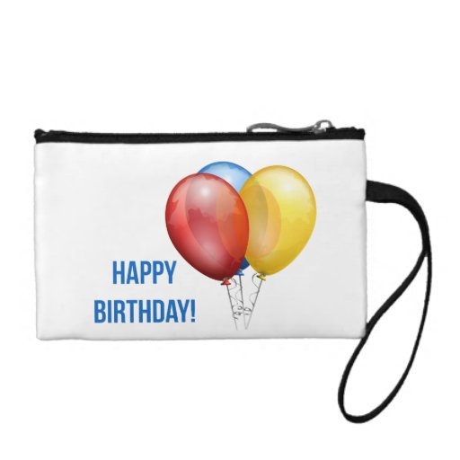 Colorful Happy Birthday Balloons Coin Wallets