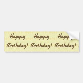 Colorful Happy Birthday Bumper Sticker