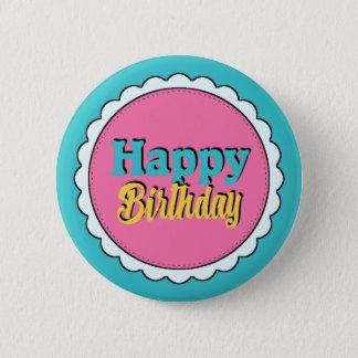 Colorful Happy Birthday Girls 6 Cm Round Badge