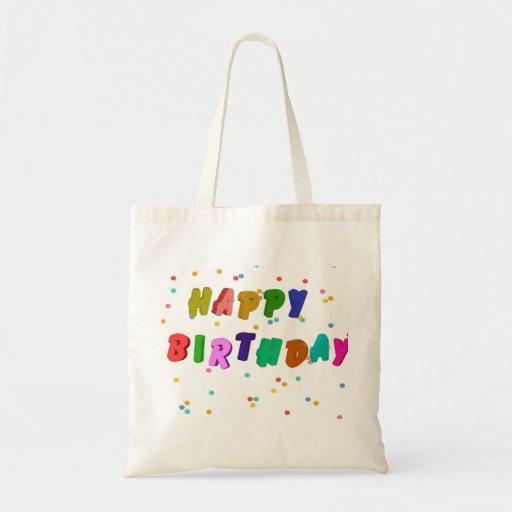 Colorful Happy Birthday Party Canvas Bag