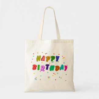 Colorful Happy Birthday Party Budget Tote Bag