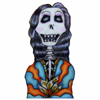 Colorful Happy Day of the Dead Skeleton Photo Cut Outs