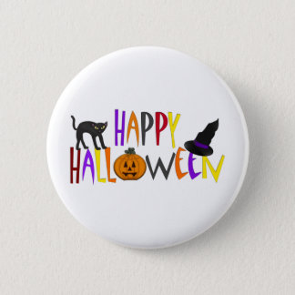Colorful Happy Halloween 6 Cm Round Badge