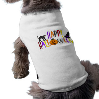 Colorful Happy Halloween Sleeveless Dog Shirt