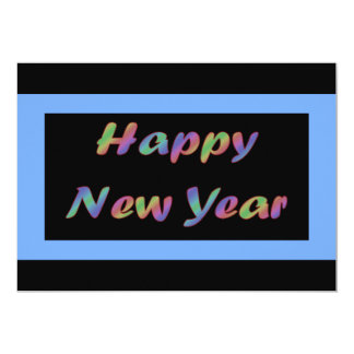 Colorful Happy New Year 13 Cm X 18 Cm Invitation Card