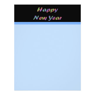 Colorful Happy New Year 21.5 Cm X 28 Cm Flyer
