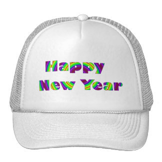Colorful Happy New year Trucker Hat