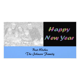 Colorful Happy New Year Customized Photo Card