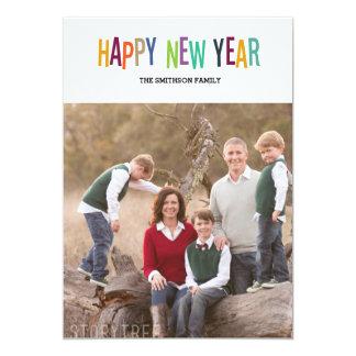 colorful happy new year new year card 13 cm x 18 cm invitation card