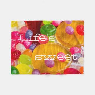 Colorful hard candy photo|| Life's sweet Fleece Blanket