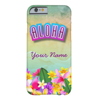 Colorful Hawaiian Beach Themed Barely There iPhone 6 Case