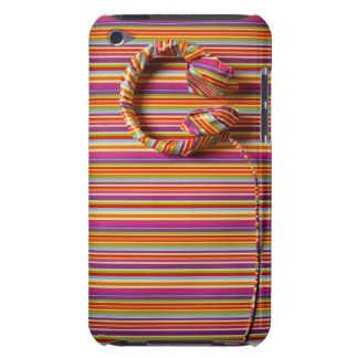 Colorful Headphones Barely There iPod Case