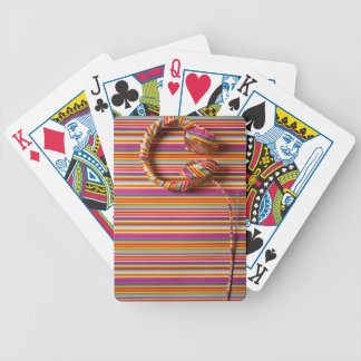Colorful Headphones Bicycle Playing Cards