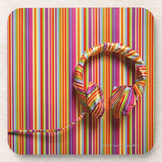 Colorful Headphones Coaster