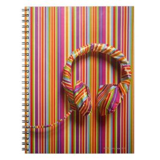 Colorful Headphones Notebooks