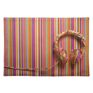 Colorful Headphones Placemat