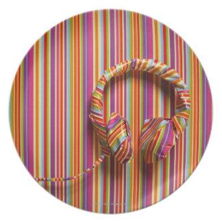 Colorful Headphones Plate