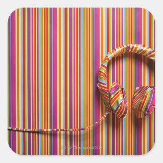 Colorful Headphones Square Sticker