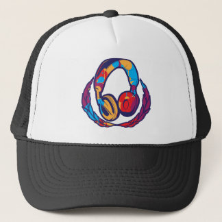 Colorful Headphones Trucker Hat