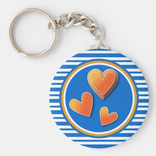 Colorful heart design key chain