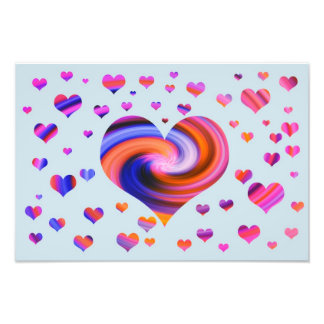 Colorful Heart Design Photographic Print