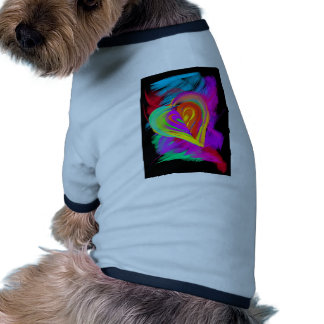 Colorful Heart Doodle Dog Clothing