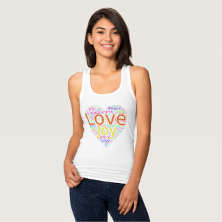 Colorful Heart of Love, Joy, Peace,and Happiness Tank Top