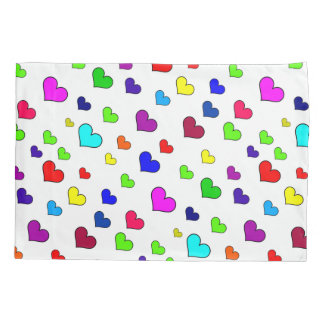 Colorful Heart Pattern Pillowcase