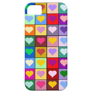 Colorful Heart Squares Barely There iPhone 5 Case