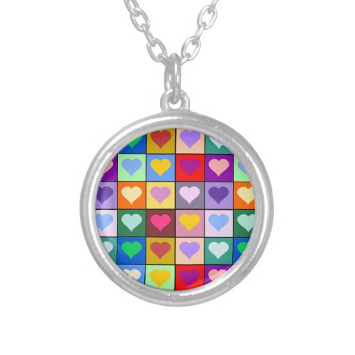Colorful Heart Squares Jewelry