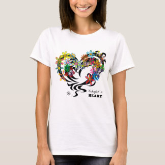 Colorful×HEART T-Shirt