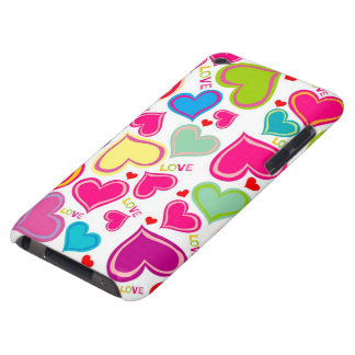 colorful hearts barely there iPod cover
