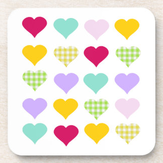 Colorful hearts coaster