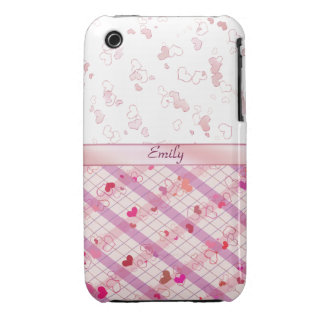 Colorful hearts iPhone 3 covers