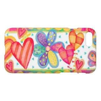 Colorful Hearts iPhone 7 Case