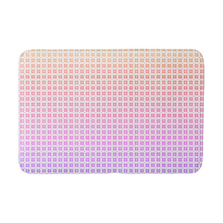 Colorful hearts love pattern bath mat