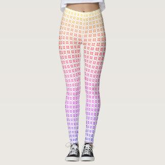Colorful hearts love pattern leggings