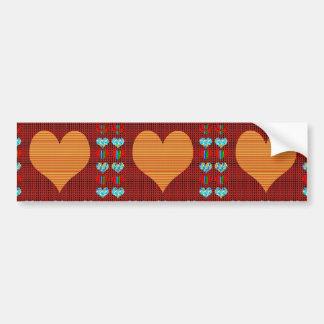 Colorful Hearts n Sheet Music Symbols Love Romance Bumper Sticker