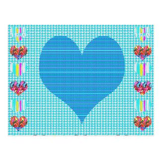 Colorful Hearts n Sheet Music Symbols Love Romance Postcard