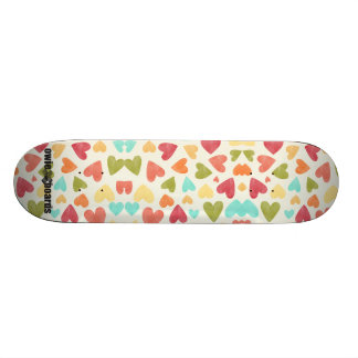 Colorful hearts pattern for your skateboard