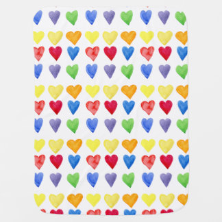 colorful hearts printed baby blanket
