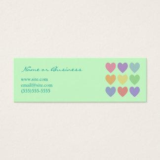 Colorful Hearts Profile Card