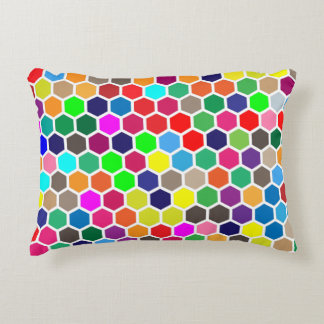 Colorful Hexagon Accent Pillow