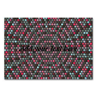colorful hexagon mosaic pattern table cards