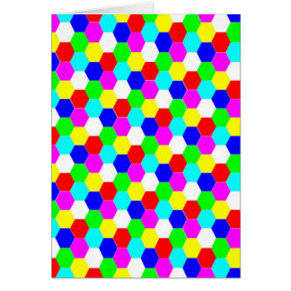 COLORFUL HEXAGON NOTE CARD