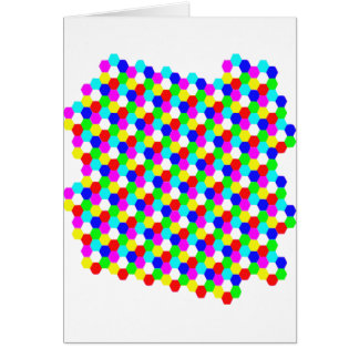 Colorful Hexagon Optical Illusion Greeting Cards
