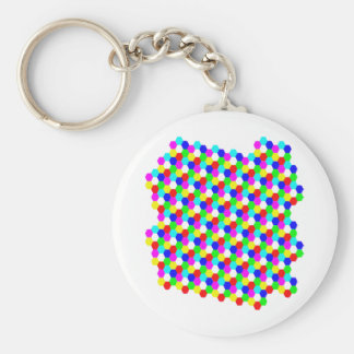 Colorful Hexagon Optical Illusion Keychains