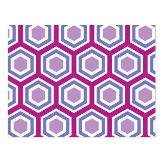 Colorful Hexagonal Pattern Postcard
